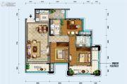 中德英伦联邦3室2厅2卫96平方米户型图