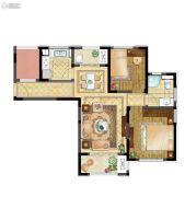 苏高新大成�B2室2厅1卫89平方米户型图