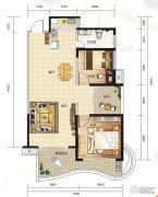 大都金沙湾2室2厅1卫92平方米户型图