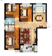 丽景湾华庭3室2厅2卫124平方米户型图