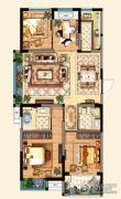 明发江湾新城4室2厅2卫113平方米户型图