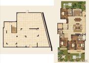 高科紫微堂4室2厅4卫371平方米户型图
