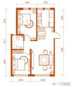 梦想公馆2室2厅1卫0平方米户型图
