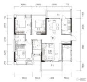 御品豪庭3室2厅2卫120平方米户型图