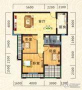海德公园3室2厅1卫101平方米户型图