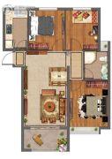 紫微台3室2厅1卫97--98平方米户型图