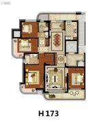 方远天韵水岸4室2厅2卫173平方米户型图