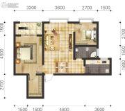 双语雅苑2室2厅1卫62--71平方米户型图