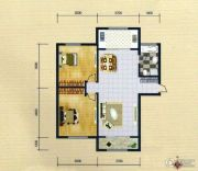 蓝远名城2室2厅1卫91平方米户型图