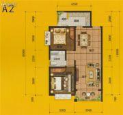 四通八达国际广场2室2厅1卫88平方米户型图