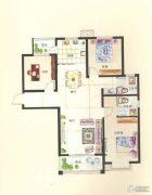 新美城上领地3室2厅2卫131平方米户型图