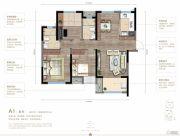 万科五彩城3室2厅2卫106平方米户型图