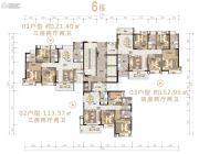 沙湖绿洲3室2厅2卫113平方米户型图
