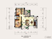海盟・山水豪庭3室2厅2卫114平方米户型图