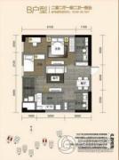 金尚俊园2室2厅2卫78--80平方米户型图