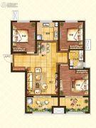 济南世茂天城3室2厅1卫103平方米户型图