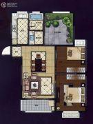 华夏世纪锦园3室2厅1卫106平方米户型图