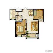 卓达上河原著2室2厅1卫95平方米户型图