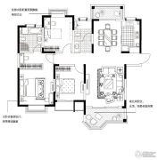 合生国际城3室2厅2卫150平方米户型图