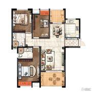 琥珀森林3室2厅2卫119平方米户型图