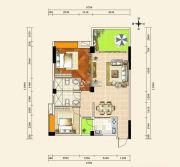 京源上景2室2厅2卫79--93平方米户型图