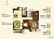 康桥九溪郡3室2厅1卫109平方米户型图