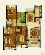 保利公园九里3室2厅2卫139平方米户型图