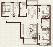 中山凯旋门3室2厅2卫119平方米户型图