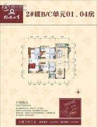 枫林水岸豪庭3室2厅2卫143平方米户型图