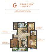 招商・莱顿小镇3室2厅2卫145平方米户型图