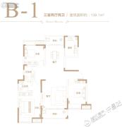 德正西湖春天3室2厅2卫139平方米户型图