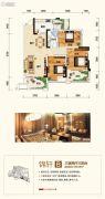 融恒时代广场3室2厅1卫0平方米户型图