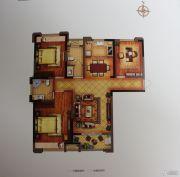 禹洲翡翠湖郡3室2厅2卫119平方米户型图