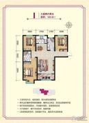 明瀚花香城3室2厅2卫122平方米户型图