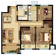 公元壹号3室2厅1卫96平方米户型图