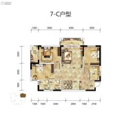 骧龙国际二期3室2厅2卫115平方米户型图