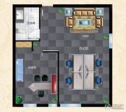 丁豪广场1室1厅0卫0平方米户型图