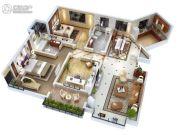 双威理想城3室2厅2卫136平方米户型图