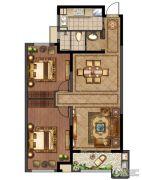 绿地峰云汇2室2厅1卫97平方米户型图