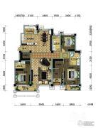 观山悦公馆4室2厅2卫202平方米户型图