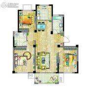 翰林御花园3室2厅2卫0平方米户型图