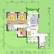 慢哉2室2厅2卫120平方米户型图