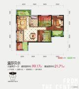 隆源国际城・YUE公园3室2厅1卫99--120平方米户型图