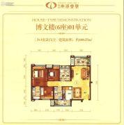 博富・南湖壹�4室2厅2卫100平方米户型图