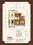 观天下2室2厅2卫100平方米户型图