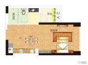 中海誉城1室1厅1卫33平方米户型图