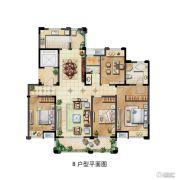 保利香槟国际3室2厅2卫170平方米户型图