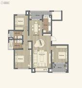 仁恒棠悦湾3室2厅2卫140平方米户型图
