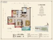 中城悦城3室2厅1卫95--100平方米户型图