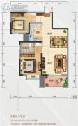海尔地产国际广场2室2厅1卫85平方米户型图